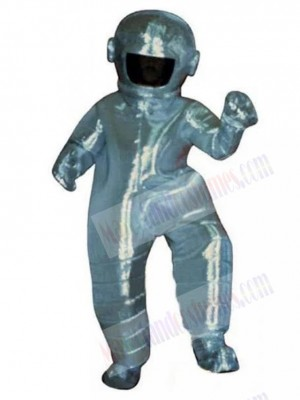 Astronaut Mascot Costume in Silver Space Suit People