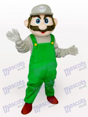 Green Super Mario Bros Anime Adult Mascot Costume