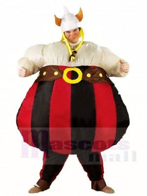 Vikings Asterix Obelix Inflatable Halloween Christmas Costumes for Adults