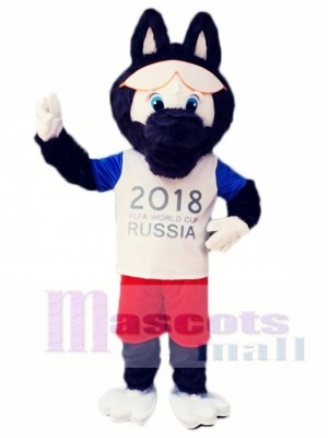 2018 Russia FIFA World Cup Football Zabivaka Black Wolf Mascot Costumes Animal