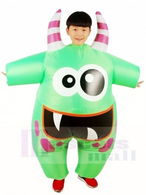 Big Mouth Green Monster Inflatable Halloween Xmas Costumes for Kids