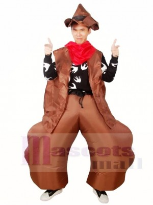 Western Cowboy Inflatable Halloween Christmas Costumes for Adults