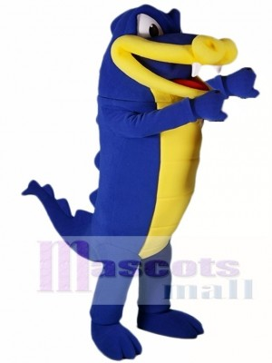 Cute Royal Blue Alligator Mascot Costume Crocodile Mascot Costumes Animal