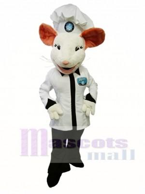 Alpina Mouse Mascot Costume White Mouse Cook Mascot Costume Animal