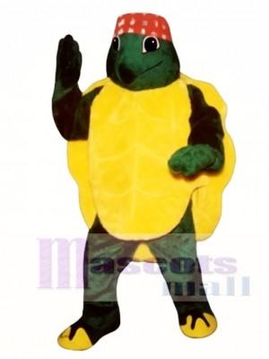 Karate Turtle with Headband Mascot Costume Animal