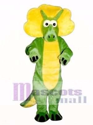 Green Triceratops Mascot Costume Animal