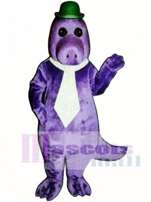 Jake the Saurus with Hat & Tie Mascot Costume Animal