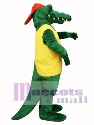Tuff Gator with Shirt & Hat Mascot Costume Animal
