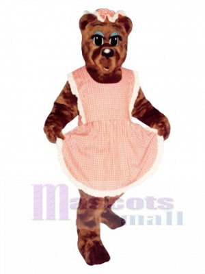Ma Bear with Apron & Hat Mascot Costume Animal