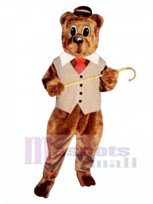 Pa Bear with Vest, Hat & Tie Mascot Costume Animal