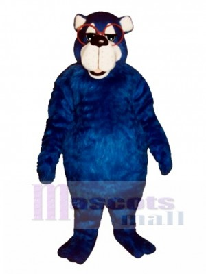 Fat Country Bear with Glasses Mascot Costume Animal