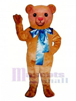 Old Fashioned Teddy Bear with Bow Mascot Costume Animal