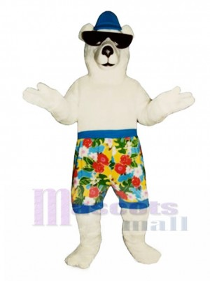 New Beach Bear with Shorts Mascot Costume Animal