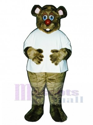 Cute Dr. Killbear with Shirt Mascot Costume Animal