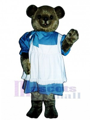 New Betsy Bear with Dress Mascot Costume Animal