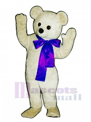 New Beau Bear with Bow Mascot Costume Animal