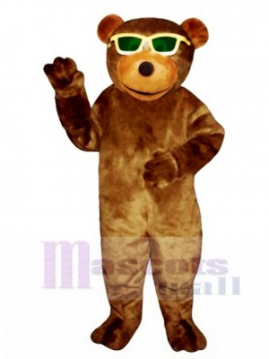 New Bear with Sunglasses Mascot Costume Animal
