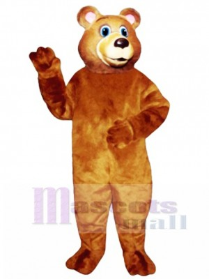 Cute Blue Eyed Bear Mascot Costume Animal
