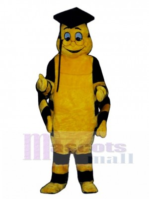Educated Worm Mascot Costume Insect