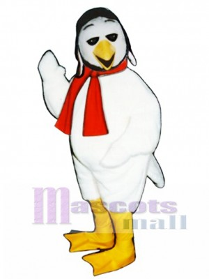 Cute Ace Bird with Aviator Hat & Scarf Mascot Costume Bird