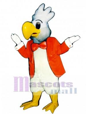 Cute Cockatoo with Jacket Mascot Costume Bird