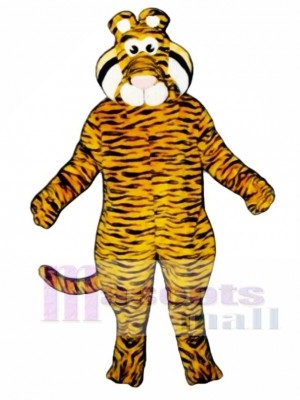 Cute Tyrone Tiger Mascot Costume Animal