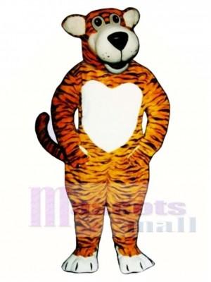 Cute Smiling Tiger Mascot Costume Animal
