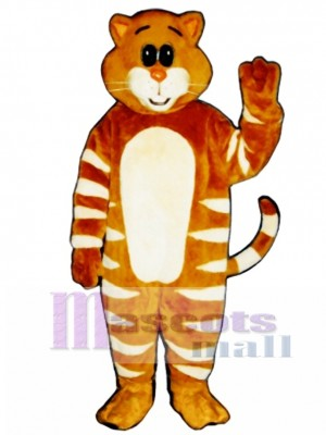 Cute Stripe Cat Mascot Costume Animal