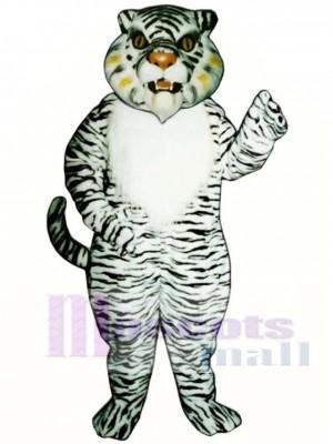 Cute White Tiger Mascot Costume Animal