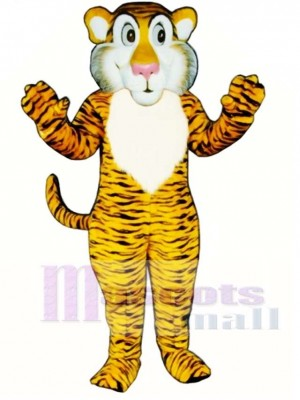 Cute Shy Tiger Mascot Costume Animal