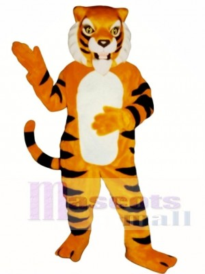 Cute Ferocious Tiger Mascot Costume Animal