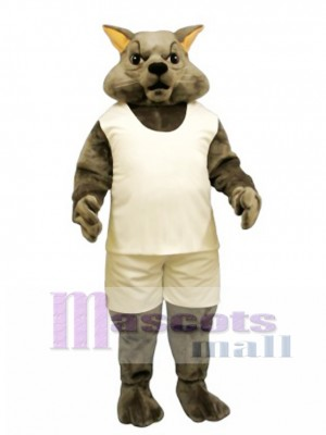 Cute Tough Tom Cat with Tank & Shorts Mascot Costume Animal