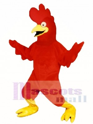 Cute Bug Eyed Chicken Mascot Costume Poultry