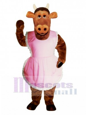 Heifer Cow with Apron Mascot Costume Animal