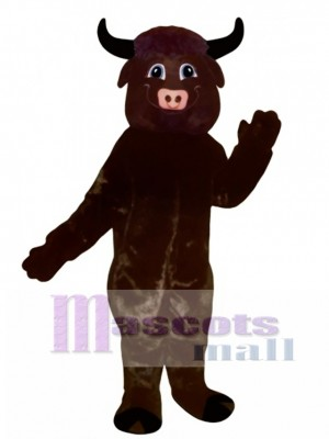 Happy Bull Mascot Costume Animal