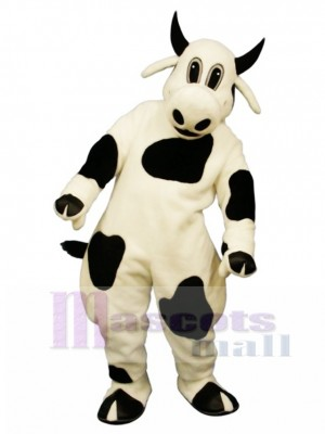 Cute Spotted Cow Mascot Costume Animal