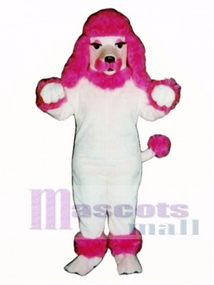 Cute Pink Poodle Dog Mascot Costume Animal