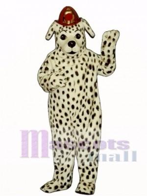Cute Dalmatian Dog with Hat Mascot Costume Animal
