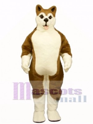 Cute Brown Husky Dog Mascot Costume Animal