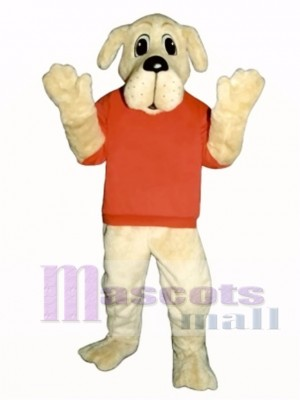 Cute Rah Rah Dog with Shirt Mascot Costume Animal