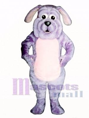 Cute Purple Pup Dog Mascot Costume Animal
