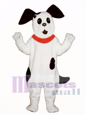Cute Spot Dog with Collar Mascot Costume Animal