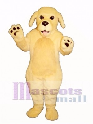Cute Blonde Dog Mascot Costume Animal