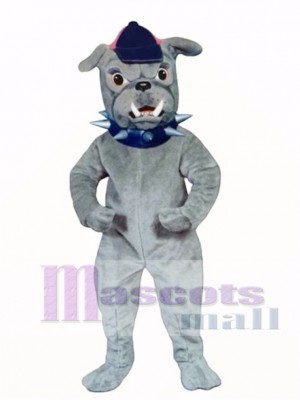 Cute Bulldog with Collar & Hat Mascot Costume Animal
