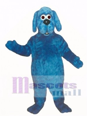 Cute Old Blue Dog Mascot Costume Animal