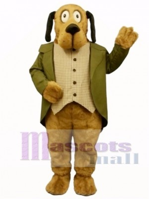 Cute Doggie Dog with Suit Mascot Costume Animal