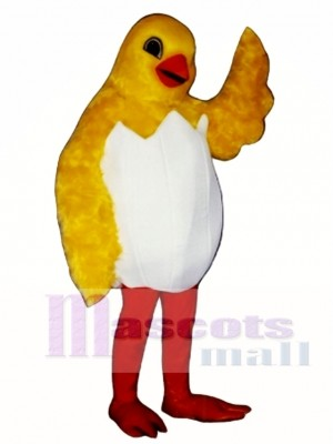 Cute Chick In Egg Mascot Costume Poultry