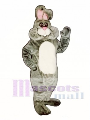 Easter Grey Marshmallow Bunny Rabbit Mascot Costume Animal