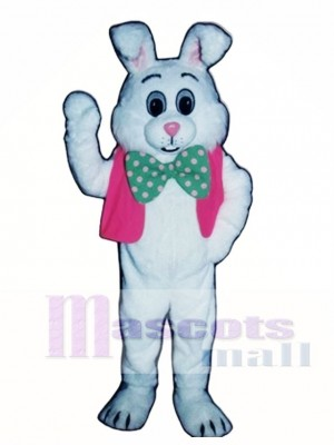 Fat Bunny Rabbit with Vest & Bowtie Mascot Costume Animal