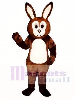 Cute Easter Brown Fat Bunny Rabbit Mascot Costume Animal